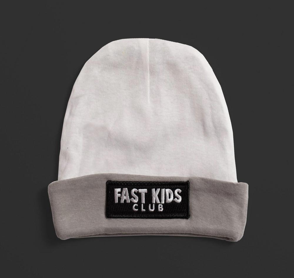 Toddler Fast Kids Club Beanie | White/Grey