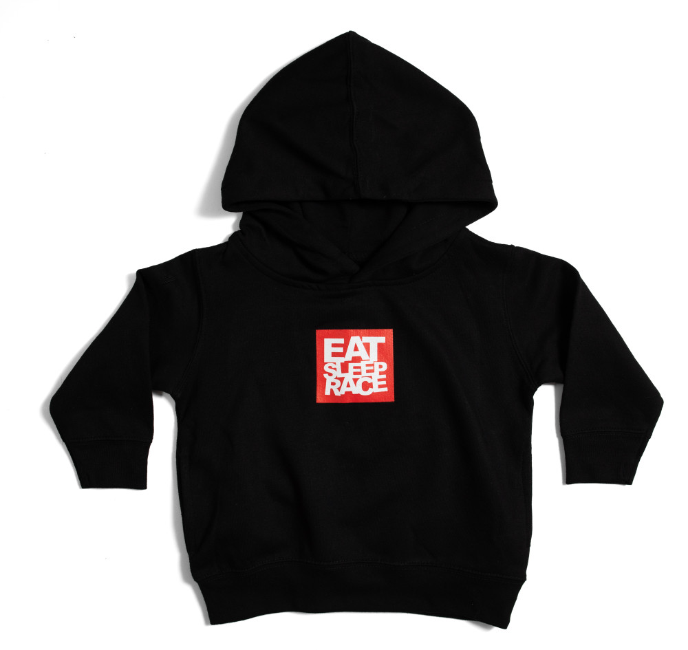 Toddler Logo Square Pull Over Hoodie | Black/Red