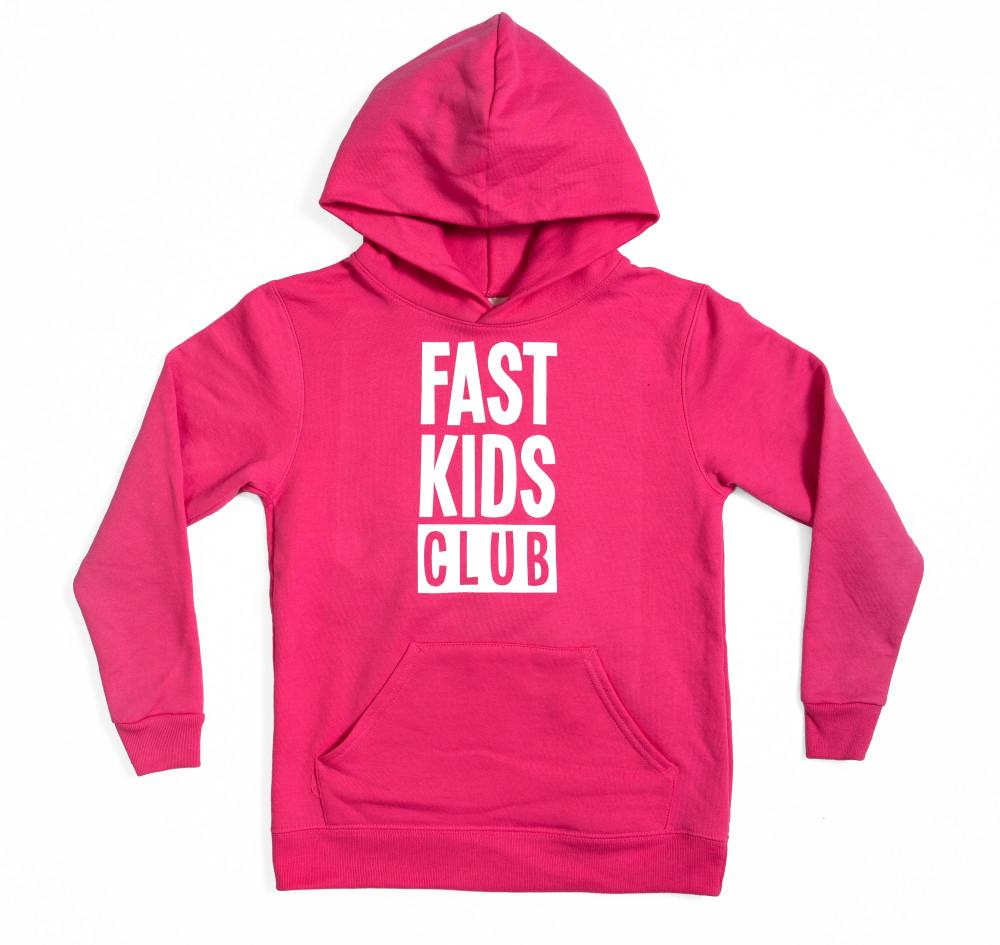 Kids Fast Kids Club Pull Over Hoodie | Pink