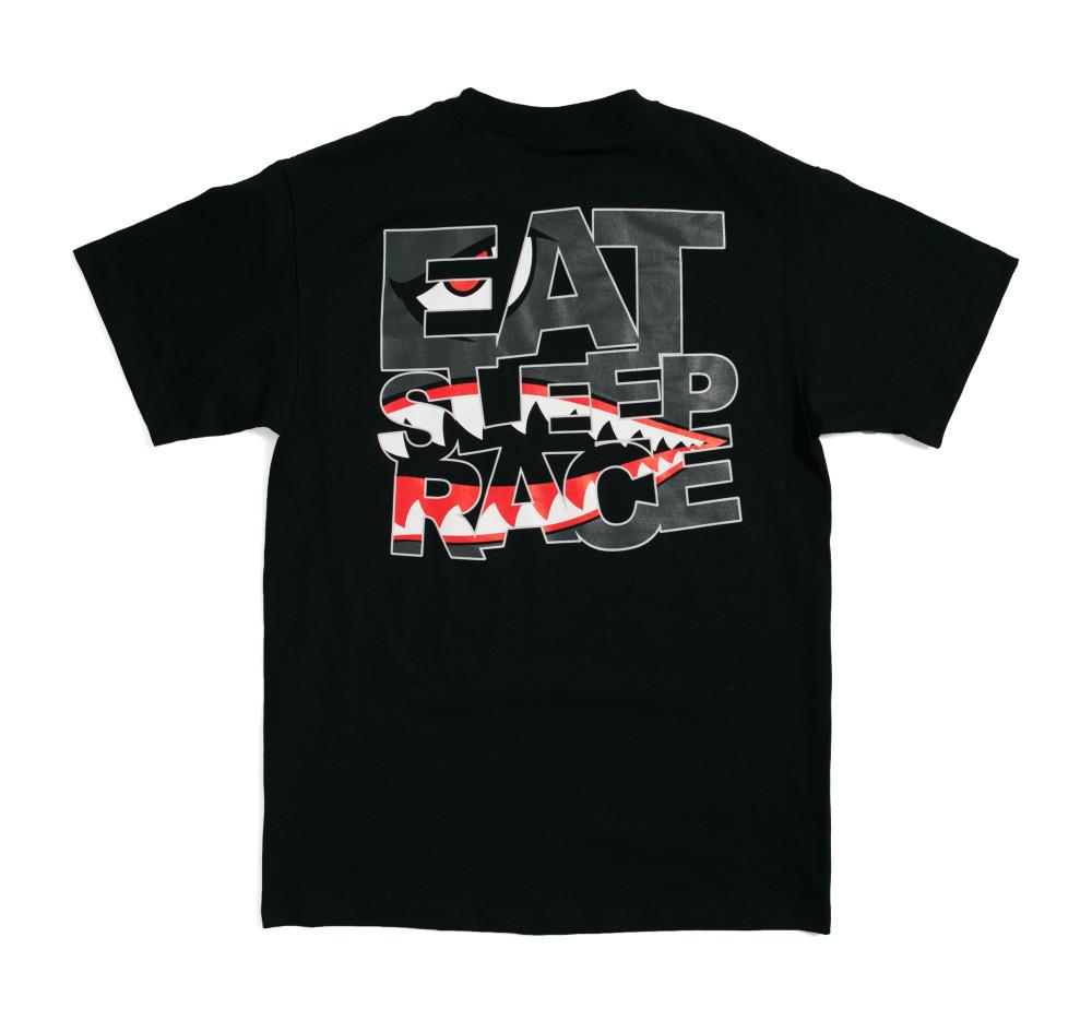 Shark Logo T-Shirt   Black