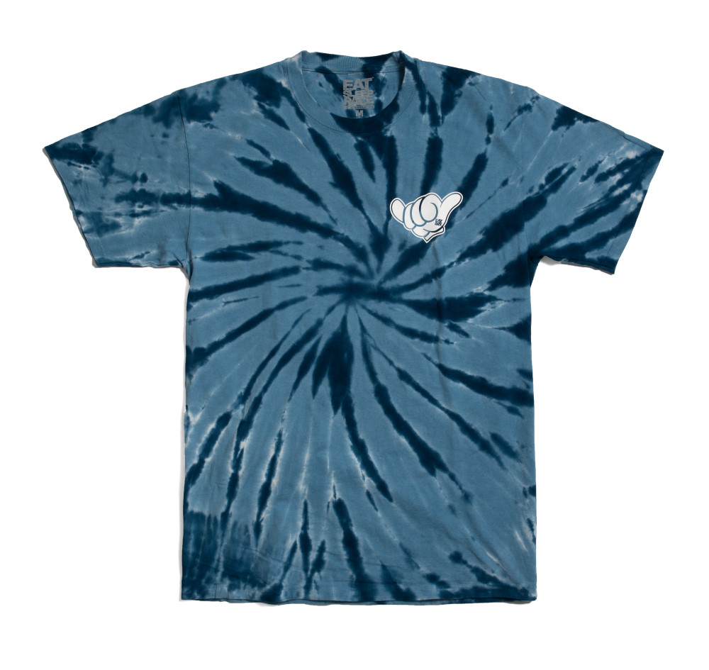 Good Vibes T-Shirt   Blue Tie Dye