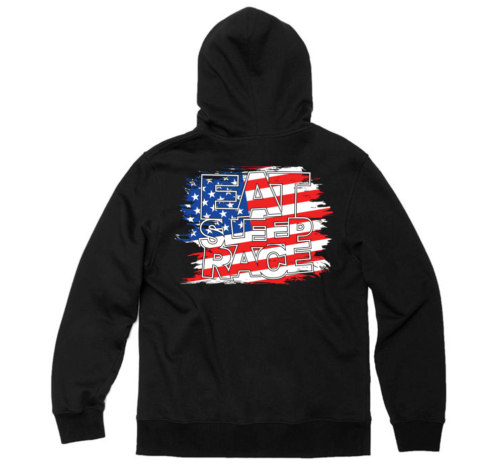 Flag Pull Over Hoodie | USA