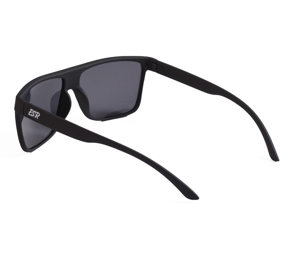 ESR Fastlife Flat Top Sunglasses | Matte Black/Smoke (Polarized) | Hard Case