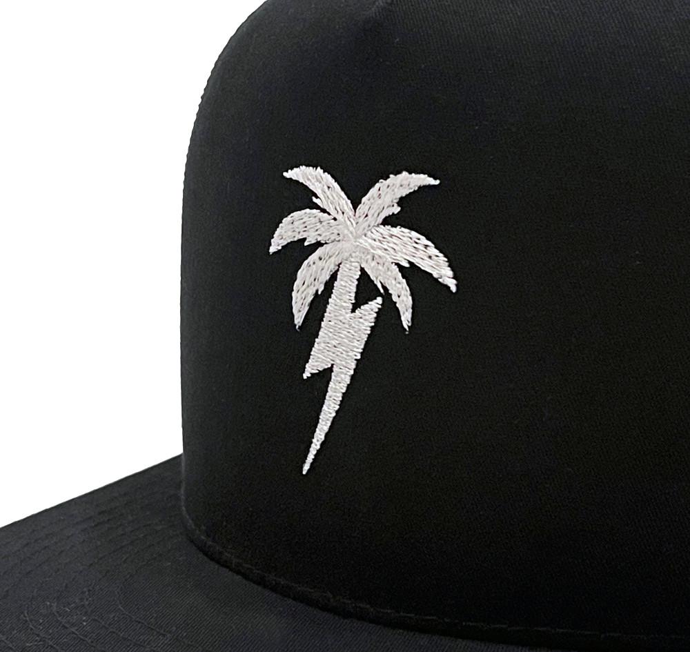 Bolt Palm Mesh Trucker Hat   Black/White