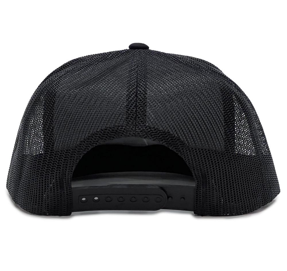 Knuckle Wrench Mesh Trucker Hat   Black/White