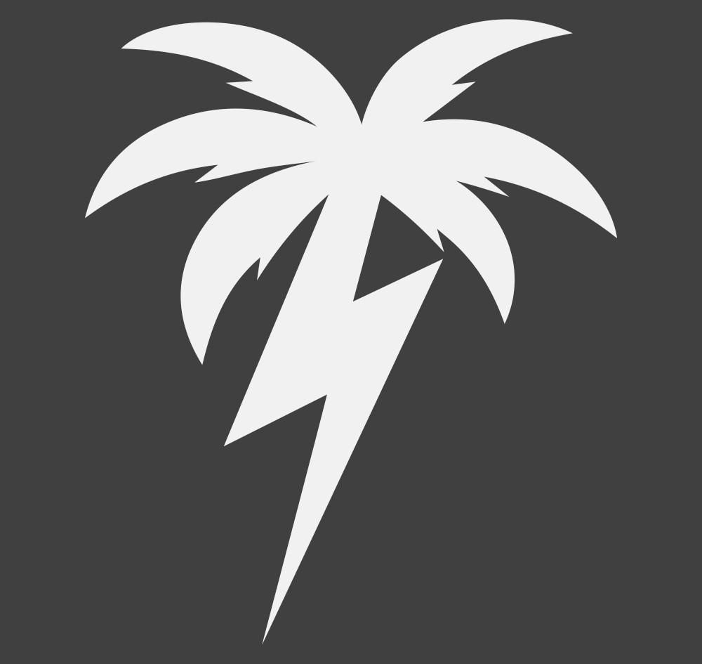 Bolt Palm Decal | White