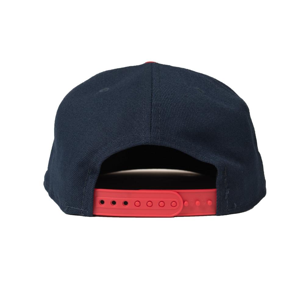Logo New Era 9FIFTY Snapback Hat | Navy/Red Flag
