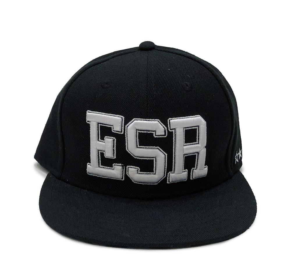 ESR Varsity Fitted Hat   Black