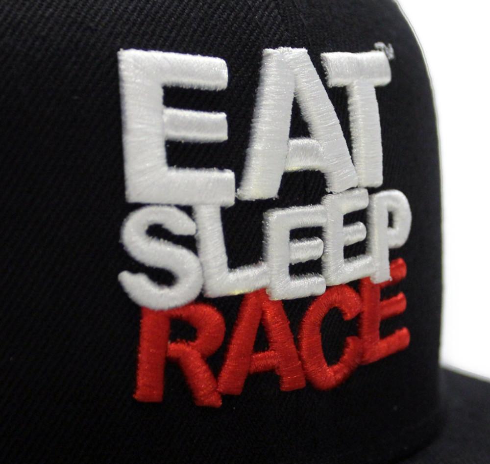 Logo Team Fitted Hat   Black-Red (OG)