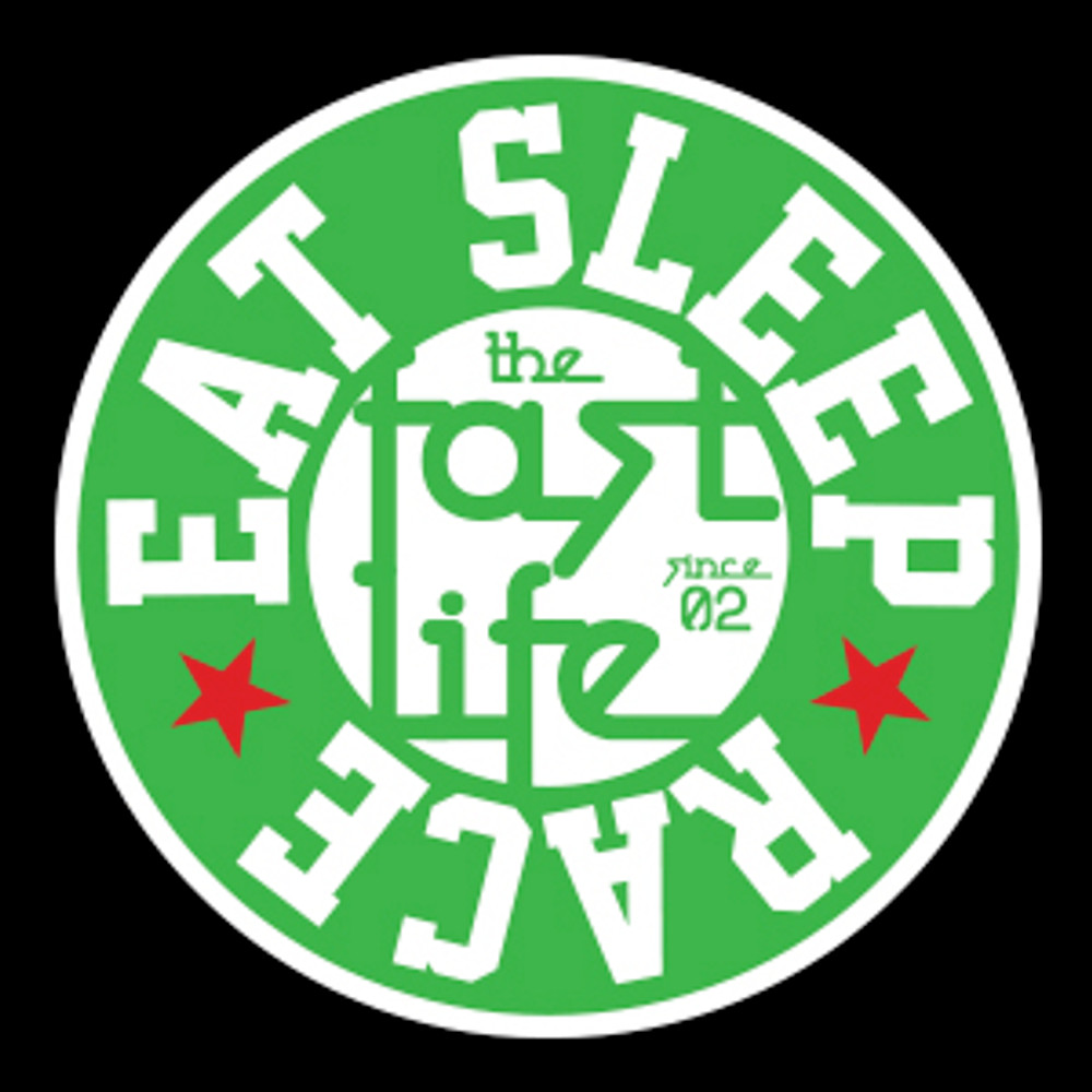 Fast Life Cap Sticker | Green/Red