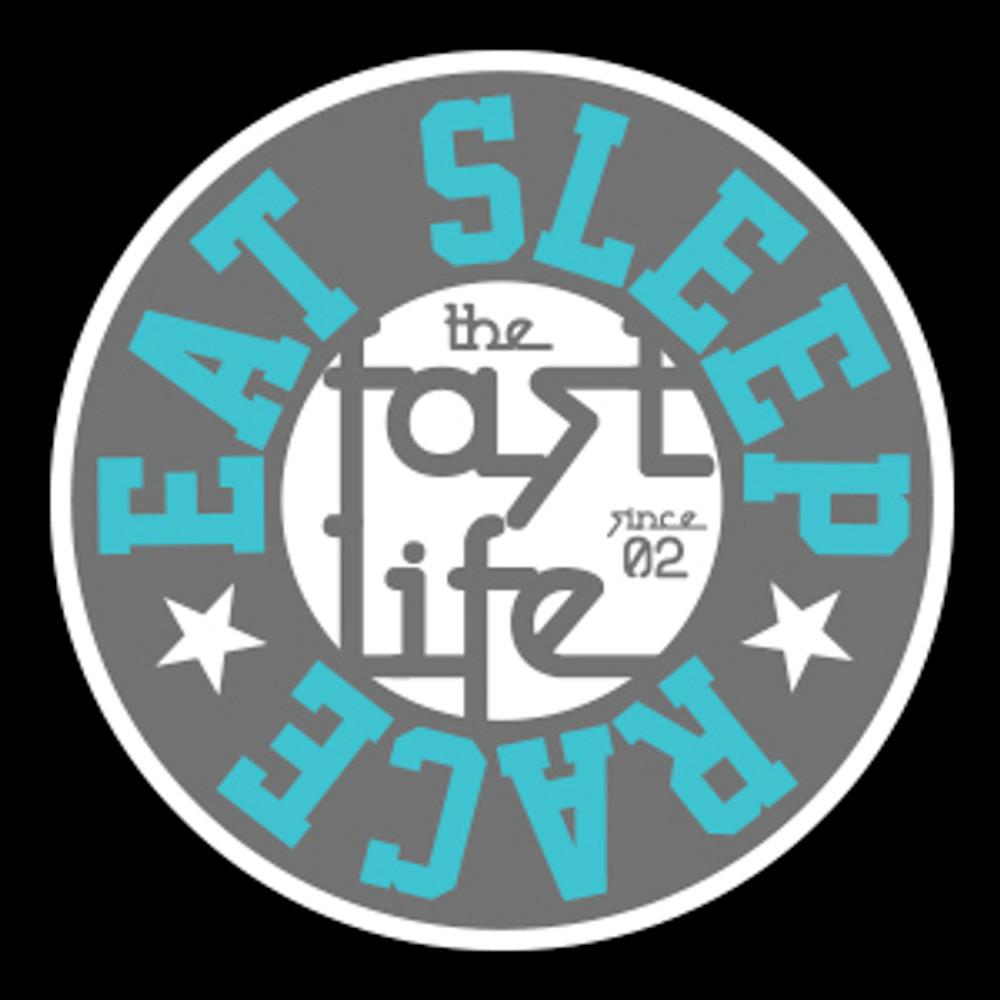 Fast Life Cap Sticker | Grey/Teal