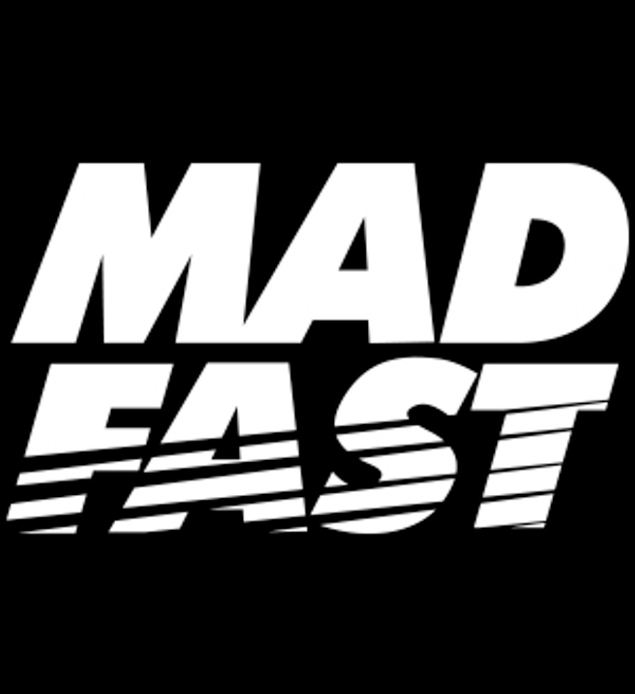 Mad Fast Vinyl Decal | White
