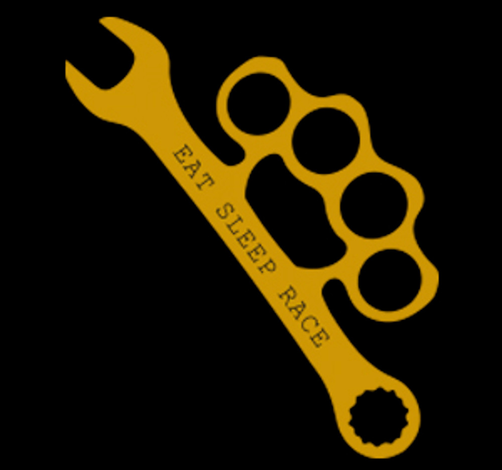 Wrench Vinyl Decal | Gold