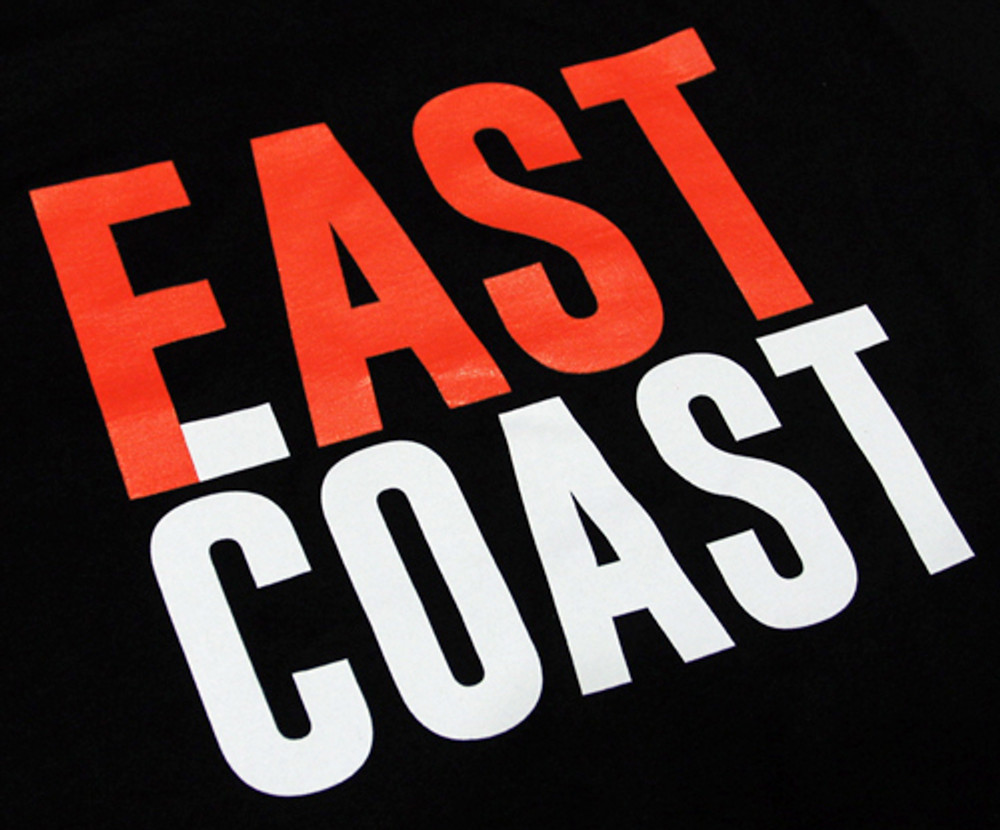 East Coast Fast Coast Bold T-Shirt | Black/Red