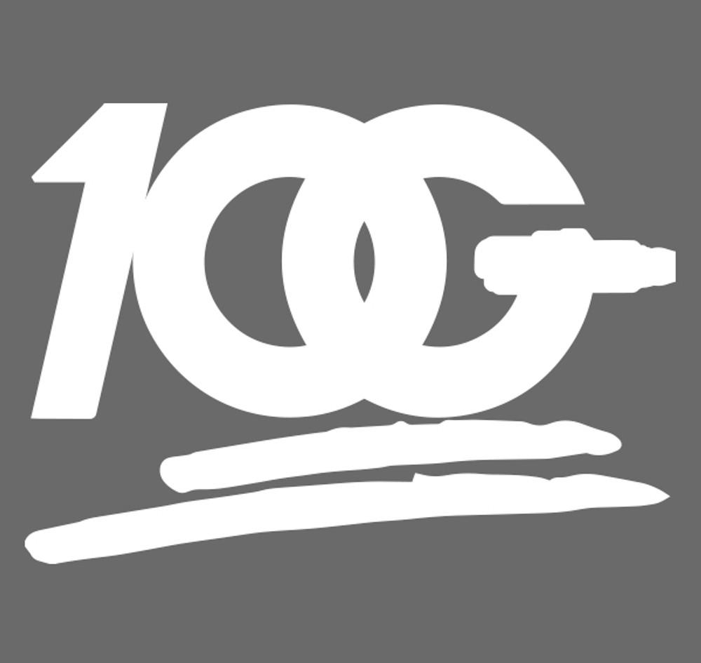OG 100 Decal   White