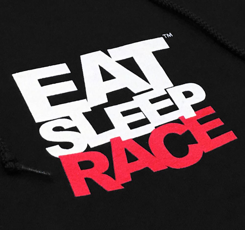 Pull Over Team Logo Hoodie | Black/Red