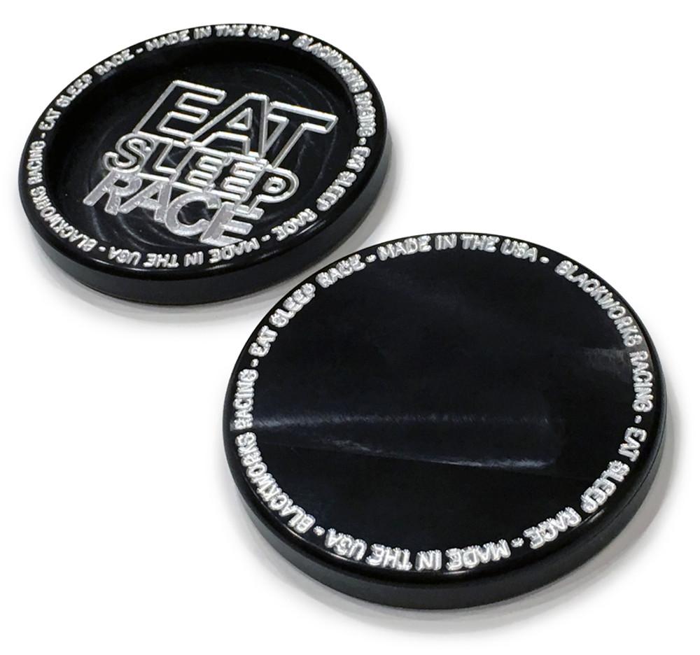 Billet Aluminum Coaster Set   Black