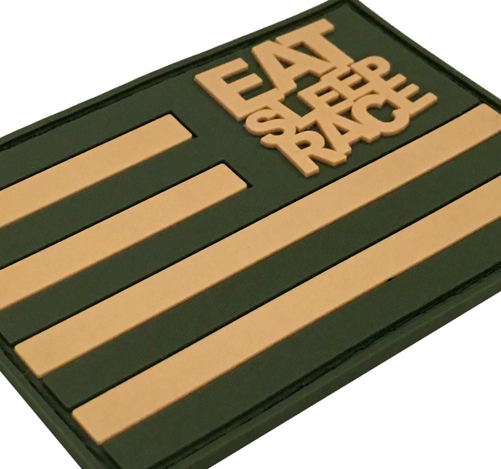 Rubber Velcro Flag Patch | Olive/Khaki