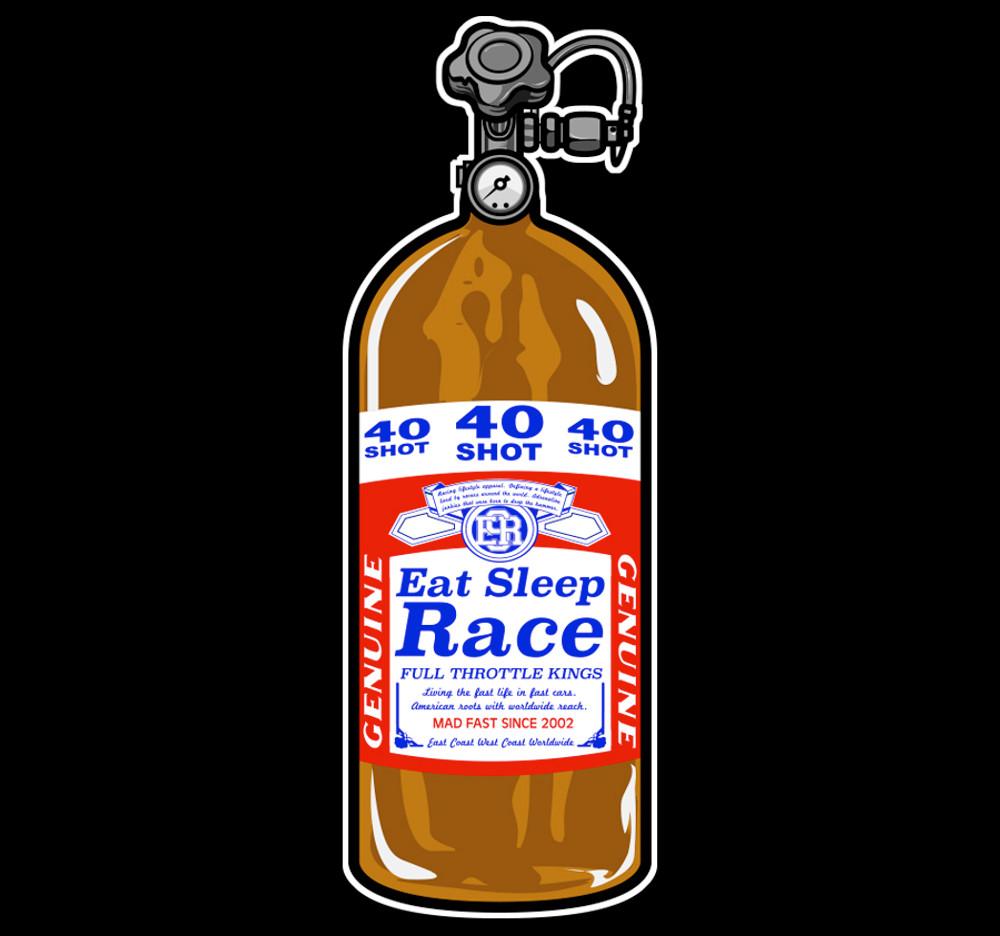 40 Shot Sticker | Red/Brown