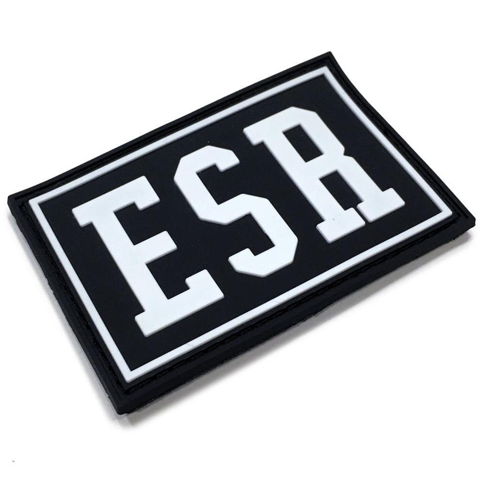 Rubber Velcro ESR Patch | Black/White