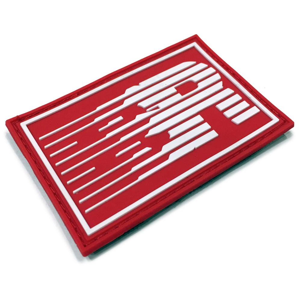 Rubber Velcro ESR Speedlines Patch | Red/White