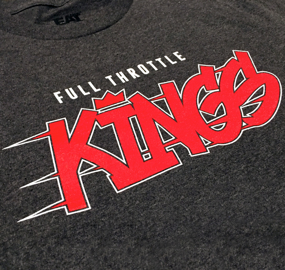 Full Throttle Kings 2 T-Shirt | Charcoal/Red