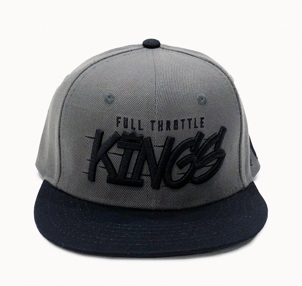 Full Throttle Kings 2 Snapback Hat   Grey/Black