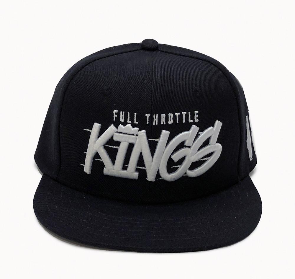 Full Throttle Kings 2 Snapback Hat | Black/White