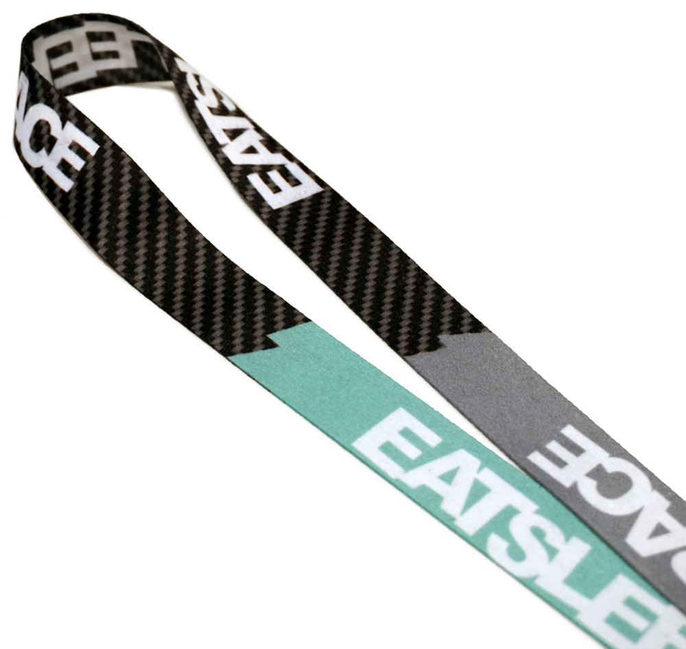 Lanyard Logo Bolt Pattern | Grey/Teal