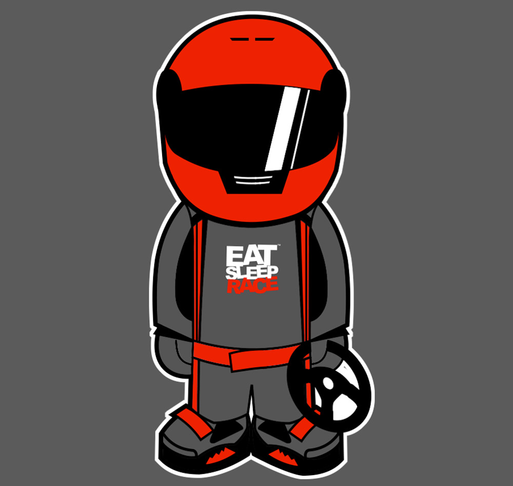 Bobblehead Sticker | Red/Grey