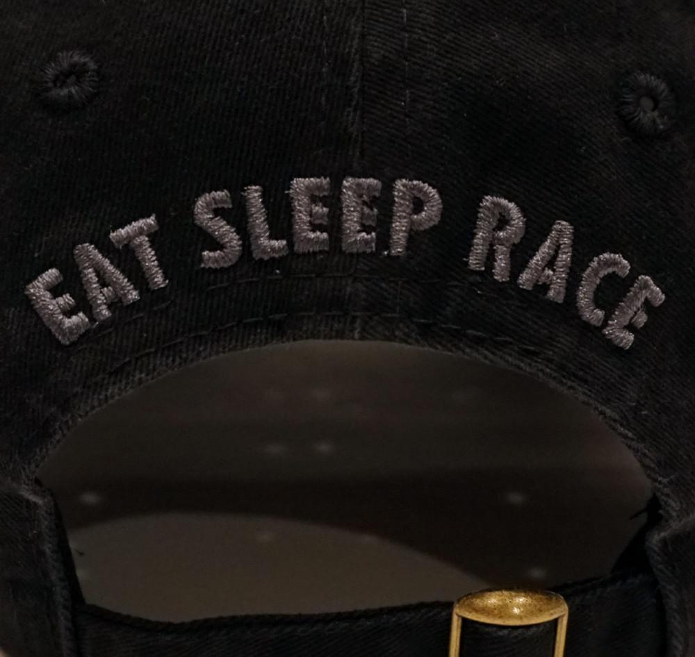 Script Sport Strapback Hat | Black/Teal
