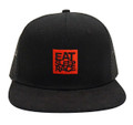 Logo Square Mesh Trucker Hat | Black/Red