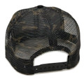 Logo Square Mesh Trucker Hat | Camo/White