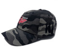 Script Sport Strapback Hat | Black Camo/Red