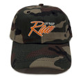 Script Sport Strapback Hat | Woodland Camo/Orange