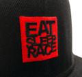 Logo Square Snapback Hat   Black/Red