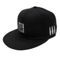 Logo Square Snapback Hat | Black/White
