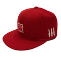 Logo Square Snapback Hat | Red/White