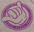 Ladies Good Vibes V-Neck Shirt | Grey/Purple