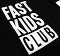 Fast Kids Club Logo T-Shirt | Black