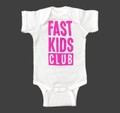 Infant One Piece Fast Kids Club | White/Pink