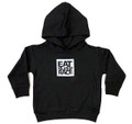 Toddler Logo Square Pull Over Hoodie | Black/White