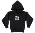 Kids Logo Square Pull Over Hoodie | Black/White