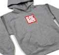 Kids Logo Square Pull Over Hoodie | Grey/Red