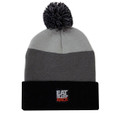 Stripe Pom Beanie | Grey/Black