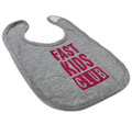 Infant Fast Kids Club Bib | Grey/Pink