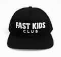 Kids Fast Kids Club Logo Snapback Hat | Black