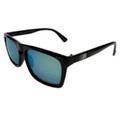 ESR Speed Line Flat Top Sunglasses | Gloss Black/Green Iridium (UV400) | Pouch