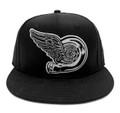 Turbo Wing Snapback Hat | Black