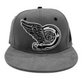 Turbo Wing Snapback Hat | Grey